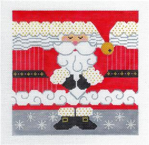 Canvas-Holiday SANTA Roll Up Ornament handpainted Needlepoint Canvas CH Designs ~ Danji