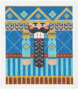 Canvas-Blue Nutcracker LG. handpainted Needlepoint Canvas by CH Designs ~ Danji