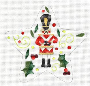 "Star~ 12 Days ""12 DRUMMERS DRUMMING"" Star HP Needlepoint Canvas Raymond Crawford"