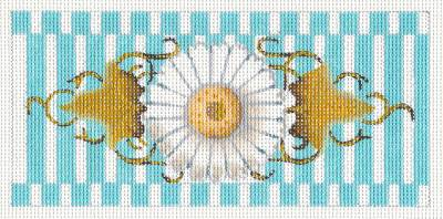 Melissa Shirley White Daisy Blossom handpainted Needlepoint Canvas for an Insert