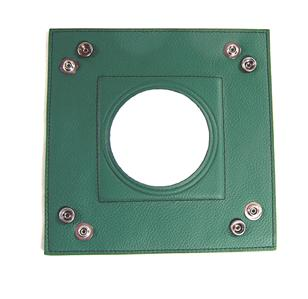 "Accessory~LEE Green Square Leather Snap Tray for Needlepoint Canvas for 3"" Round canvas"