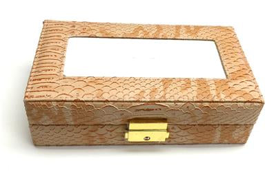Accessory~LEE TAN Leather Jewelry Box with Interior Compartments for Needlepoint Canvas