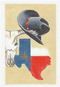 Canvas ~TEXAS TREASURES for TEXAS LOVERS handpainted Needlepoint Canvas Leigh Design