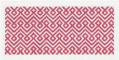 "Canvas Insert~Rose Diamond Design handpainted ""BB"" Needlepoint Canvas by SOS from LEE"