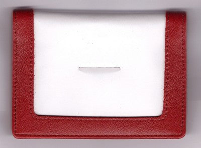 "Accessory~Rich Red Leather CREDIT CARD CASE for 3.5"" by 5"" Needlepoint Canvas from LEE"