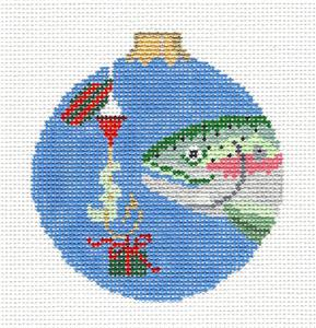 Christmas~ FISH GIFT ~ Fisherman's handpainted Needlepoint Ornament by Susan Roberts