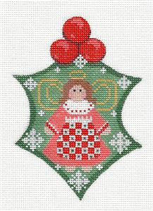 Holly~ Holly with Angel & Stitch Guide handpainted Needlepoint Canvas ~ Danji