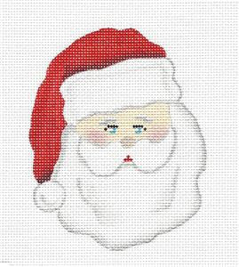 Christmas~ Classic Santa handpainted Needlepoint Ornament Canvas by Pepperberry