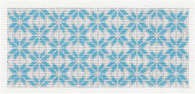 "Canvas Insert~ Blue Snowflakes Design handpainted ""BB"" Needlepoint Canvas by SOS from LEE"