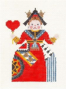 Canvas~Queen of Hearts ~ Alice In Wonderland HP Needlepoint Canvas by Petei ~P. Pony