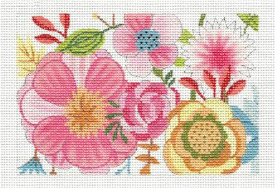 Canvas Insert~ Garden Party handpainted Needlepoint Canvas by M.Whittemore BC Insert LEE