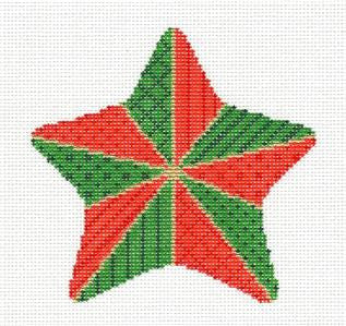 Christmas~Star Stitchery handpainted Needlepoint Ornament Canvas by Susan Roberts