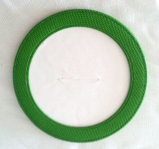 Accessory~Green Leather Magnetic Coaster or Ornament for Needlepoint Canvas by LEE