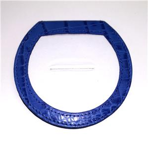"Accessory~LEE Blue Alligator Leather Folding Purse Mirror for a 3"" Needlepoint Canvas"