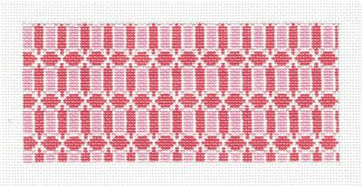 "Canvas Insert~Pink & White Design handpainted ""BB"" Needlepoint Canvas by SOS from LEE"