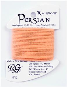 "Persian Wool #56 ""Apricot Blush"" Single Ply Needlepoint Thread by Rainbow Gallery"