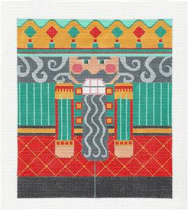 Canvas-Green Nutcracker LG. handpainted Needlepoint Canvas by CH Designs ~ Danji