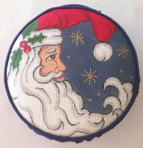 Creative Needle Crescent Moon Santa Silk Jewel Case handpainted Needlepoint Canvas 18 Mesh
