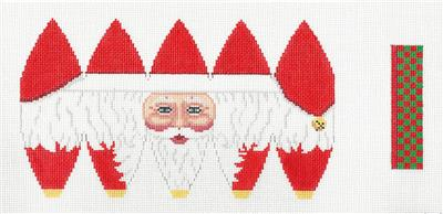 3D Santa Face Hot Air Balloon HP Needlepoint Canvas by Susan Roberts