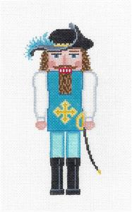 Nutcracker-Musketeer with Sword Nutcracker handpainted Needlepoint Ornament Susan Roberts