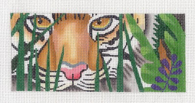 Canvas~Stalking Tiger by Leigh Design ~ handpainted Needlepoint Canvas BR Insert