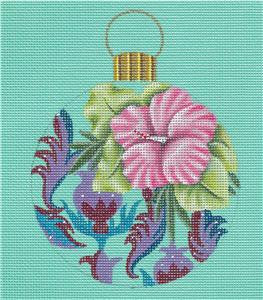 Round ~MOOREA near Tahiti in the South Pacific HP Needlepoint Canvas by Leigh Design