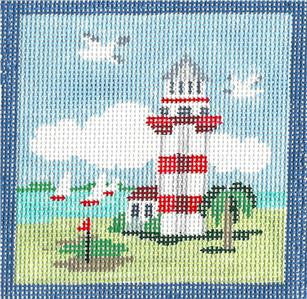 Canvas~Habrour Towne Light, Hilton Head, SC handpainted Needlepoint Canvas~by Kathy Schenkel***SP.ORDER***