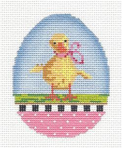 Kelly Clark - Easter Baby Duckling Egg handpainted Needlepoint Canvas by Kelly Clark