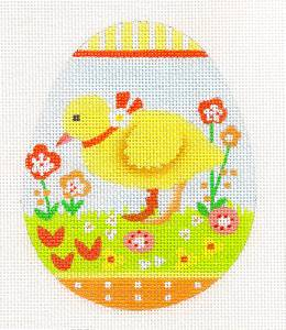 Melissa Shirley Easter Duck Egg handpainted Needlepoint Canvas Classic Ornament