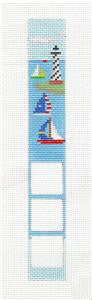 2 Sided-Sailing Boats Key Tag Fob Kit Needlepoint by Susan Roberts