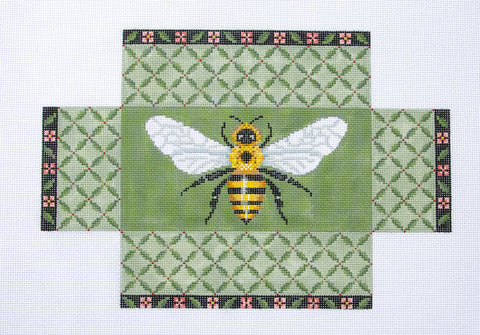 Brick Cover~Door Stop BEE handpainted Needlepoint Canvas~ by Susan Roberts