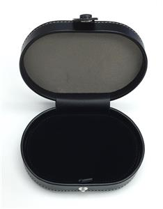 *NEW* Full Grain Black Leather Needle Case magnetic for Needlepoint Canvas LEE