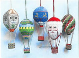 3D Flying Santa Riding Bear Hot Air Balloon HP Needlepoint Canvas Susan Roberts