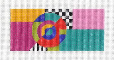 Canvas Insert~Art Deco Geometric Multi-Color handpainted Needlepoint Canvas ~ BB Insert ~ LEE