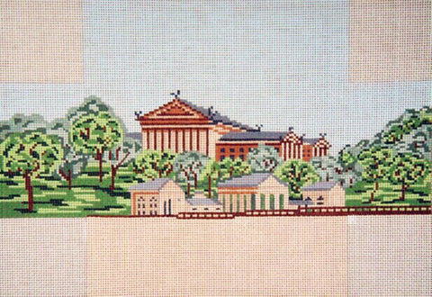 Brick Cover~Philadelphia Museum of Art handpainted Needlepoint Canvas~by Needle Crossings