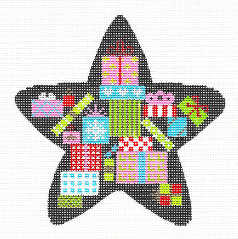 Star~ Christmas Gifts Star handpainted Needlepoint Ornament Canvas Painted Pony  **MAY NEED TO BE SPECIAL ORDERED**