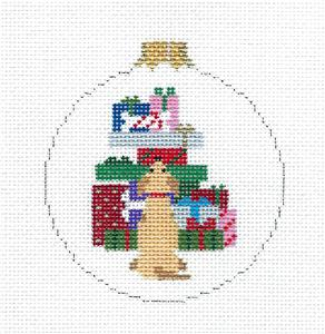 Christmas~Dog Bone Gift Christmas Ornament handpainted Needlepoint Canvas by Susan Roberts