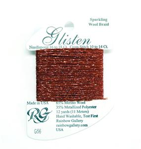 "GLISTEN Sparkling Braid #56 ""Tandori Spice"" Needlepoint Thread Rainbow Gallery"