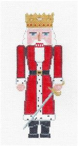 Nutcracker~Nutcracker King IV w/ Gold Crown handpainted Needlepoint Canvas by Susan Roberts