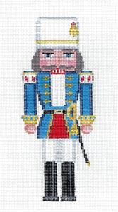 Nutcracker-Nutcracker Cossack w/ Sword handpainted Needlepoint Canvas by Susan Roberts