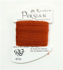 "Persian Wool  ""Clay Pot"" #104  Single Ply Needlepoint Thread by Rainbow Gallery"