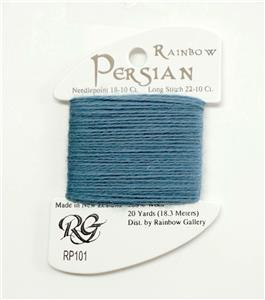 "Persian Wool ""French Blue"" #101  Single Ply Needlepoint Thread by Rainbow Gallery"