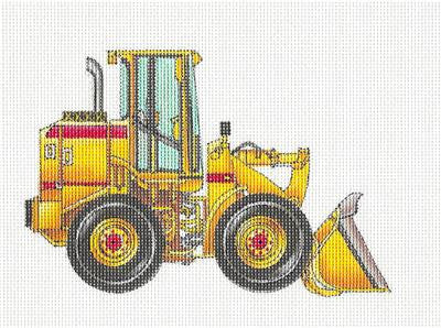 Canvas~Front End Loader Machine HP Needlepoint Canvas by 2 Bananas from P. Pony  **MAY NEED TO BE SPECIAL ORDERED**