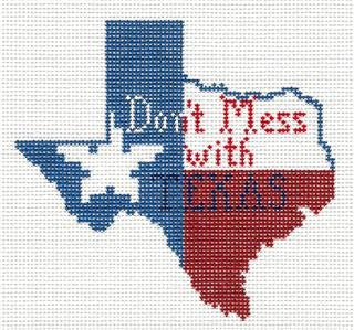 Canvas~Don't Mess With TEXAS HP Needlepoint Ornament Canvas by Petei from P. Pony  **MAY NEED TO BE SPECIAL ORDERED**