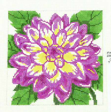Canvas Floral~LEE Rose Dahlia Flower Series handpainted HP Needlepoint Canvas on 12 Mesh