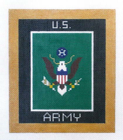 "Military~ARMY Military 6""x7"" handpainted Needlepoint Canvas by LEE NeedleArts"