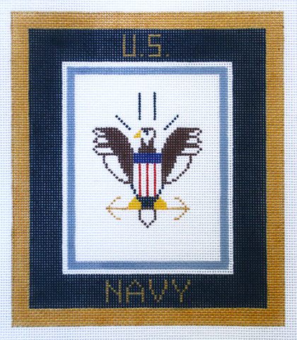 "Military~NAVY Military 6""x7"" handpainted Needlepoint Canvas by LEE NeedleArts"