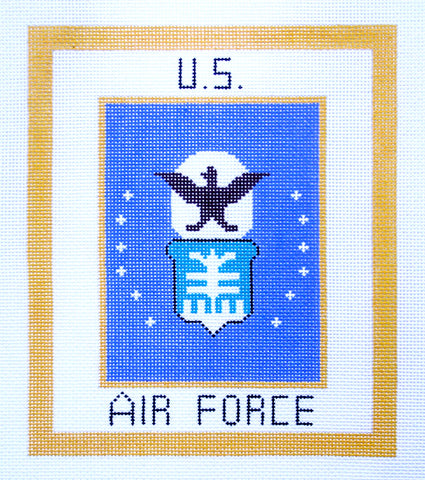 "Military~AIR FORCE Military 6""x7"" handpainted Needlepoint Canvas by LEE NeedleArts"