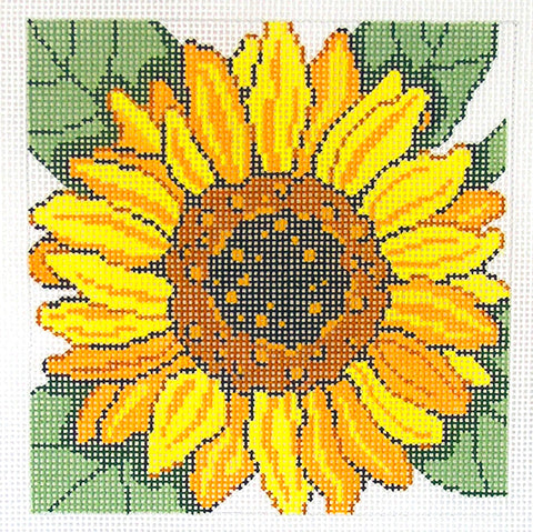 Canvas Floral~LEE SUNFLOWER Flower Series handpainted Needlepoint Canvas on 12 Mesh