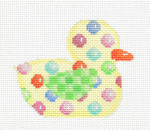 Easter Duck~Jelly Bean Baby Duck handpainted Needlepoint Canvas~by Associated Talents